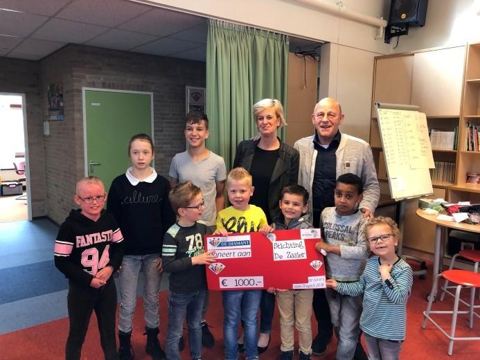 SBO De Diamant steunt Stichting de Zaaier
